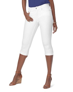 NYDJ - Marilyn Cuffed Cropped Jeans in Optic White