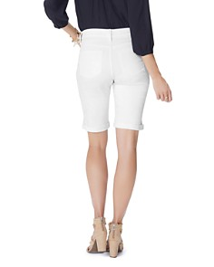 NYDJ - Biella Cuffed Denim Bermuda Shorts in Optic White