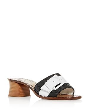 Bottega Veneta Women's Woven Block-Heel Slide Sandals