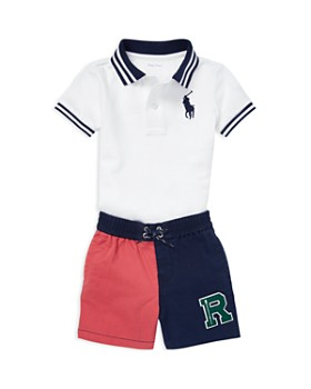 7b41f03c7c4f Ralph Lauren - Boys  Mesh Polo   Twill Shorts Set - Baby ...