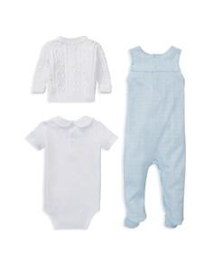 Ralph Lauren - Boys' Cotton Aran-Knit Cardigan, Overalls & Bodysuit Set - Baby