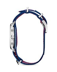 Bulova - Aerojet Classic Red-and-Blue Striped Mesh Strap Watch, 39mm
