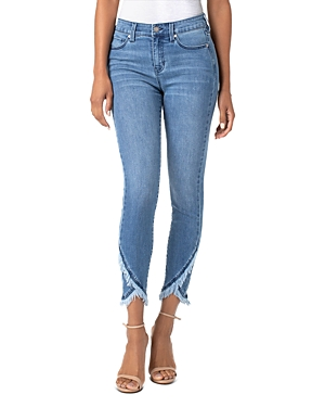 Liverpool Jeans ABBY TULIP-HEM CROPPED SKINNY JEANS IN IBIZA