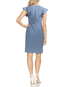 VINCE CAMUTO - Flutter-Sleeve Sheath Dress