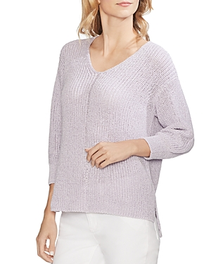 Vince Camuto Sweaters V-NECK SHIMMER SWEATER