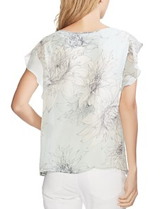 VINCE CAMUTO - Pagoda Blossoms Flutter-Sleeve Top