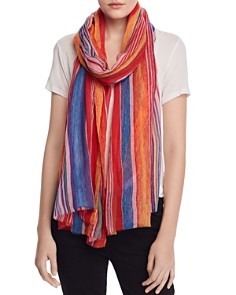 Echo - Striped Wool Scarf