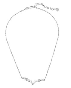 """Majorica - Simulated Pearl Curved Pendant Necklace, 15"""""""