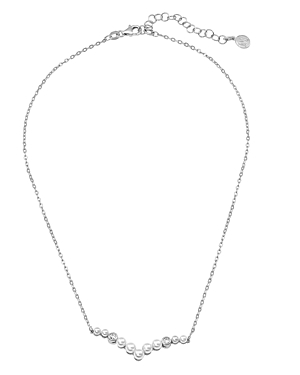 Majorica Accessories SIMULATED PEARL CURVED PENDANT NECKLACE, 15