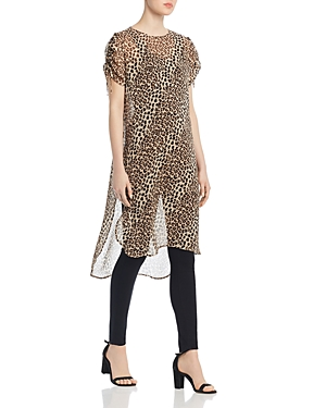 Vince Camuto Tops LEOPARD-PRINT TUNIC