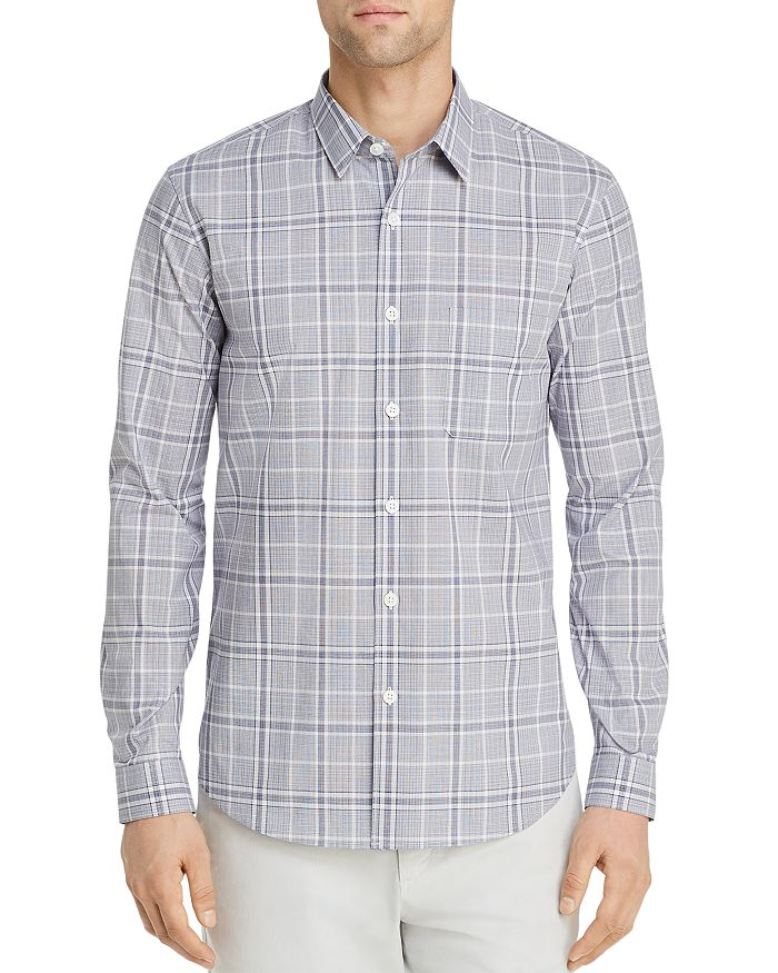 Theory - Rammy Hill Tonal-Plaid Regular Fit Shirt
