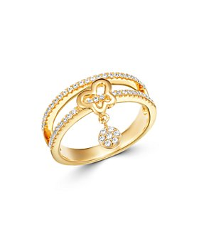 Bloomingdale's - Diamond Butterfly Charm Ring in 14K Yellow Gold, 0.33 ct. t.w. - 100% Exclusive