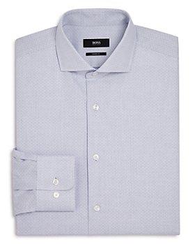 BOSS - Diamond-Weave Regular Fit Dress Shirt