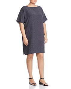 Eileen Fisher Plus - Morse Code Shift Dress