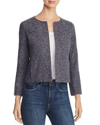 Eileen Fisher Petites - Mélange Cropped Jacket - 100% Exclusive