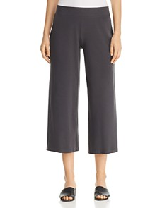 Eileen Fisher - Wide-Leg Knit Cropped Pants