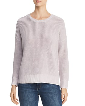 Eileen Fisher - Organic Cotton Shaker-Knit Sweater ... 0257fa094