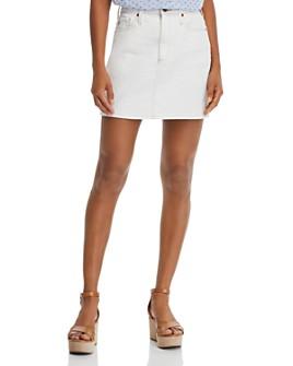 AG - Vera Denim Mini Skirt in 1 Year Bare White
