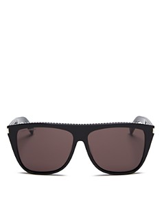 Saint Laurent - Unisex Studded Flat Top Square Sunglasses, 59mm