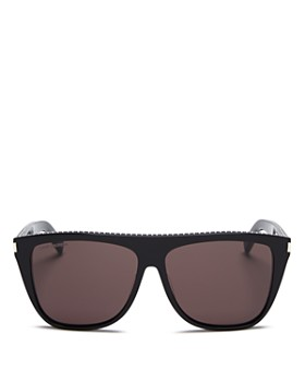 a9f3901774bf1 Saint Laurent - Unisex Studded Flat Top Square Sunglasses