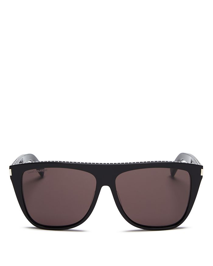 f46870a7013 Saint Laurent Unisex Studded Flat Top Square Sunglasses, 59mm ...