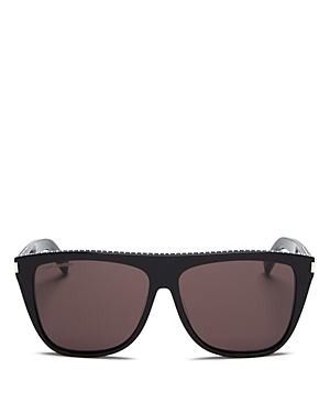 Saint Laurent Unisex Studded Flat Top Square Sunglasses, 59mm