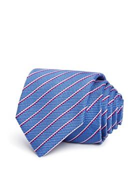 bb55b72002a6 HUGO - Textured Stripe Silk Skinny Tie