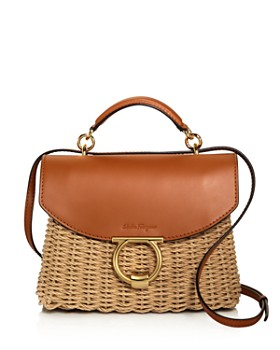 8fb104cc9a10 Salvatore Ferragamo - Margot Small Wicker Shoulder Bag ...
