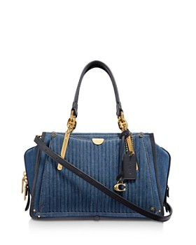 ab2144acd9f COACH - Dreamer Quilted Denim Crossbody ...