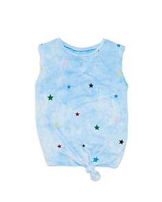 Flowers by Zoe - Girls' Cloud & Star Knotted Tank - Big Kid