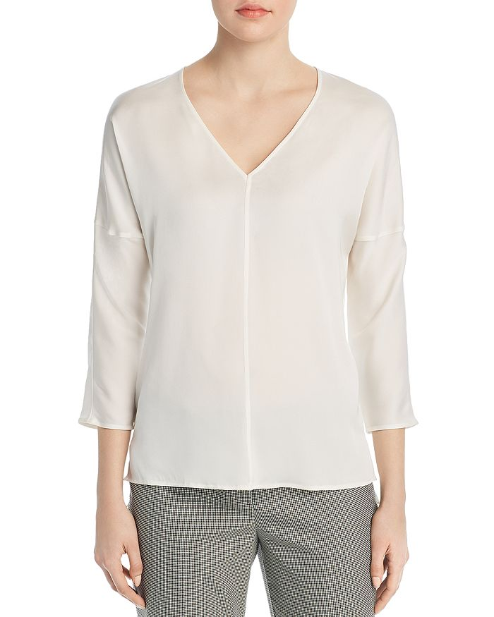 BOSS - Inuka Drop-Shoulder Silk Blouse
