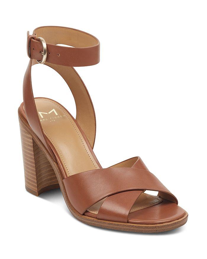 Marc Fisher LTD. - Women's Lorla Leather Block Heel Sandals