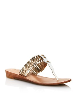 Jack Rogers - Women's Tinsley Demi Wedge Woven Thong Sandals