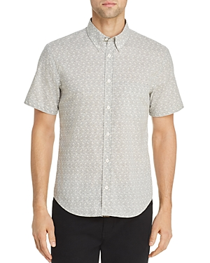Billy Reid Tops PALISADES TUSCAM GEOMETRIC-PRINT REGULAR FIT BUTTON-DOWN SHIRT