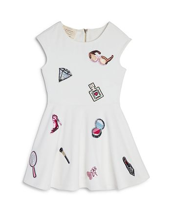 Hannah Banana - Girls' Makeup Fit-and-Flare Dress, Little Kid - 100% Exclusive