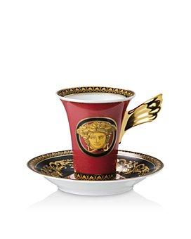 Versace - Versace Medusa Red Coffee Cup & Saucer