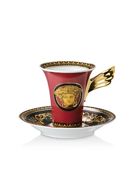 Versace - Versace Medusa Red Coffee Cup & Saucer