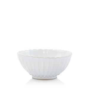 Vietri Incanto Stone White Stripe Small Bowl-Home