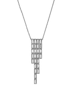 Atelier Swarovski - Core Collection Fluid Azzurro Fringe Pendant Necklace, 13""