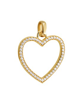 Michael Kors - Oversized Pavé Heart Charm in 14K Gold-Plated Sterling Silver