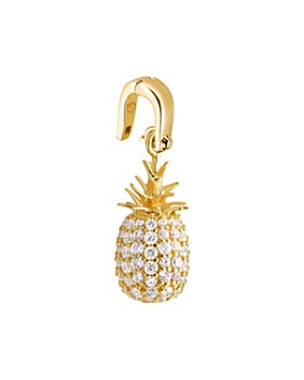 Michael Kors - Pavé Pineapple Charm in 14K Gold-Plated Sterling Silver