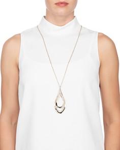"Alexis Bittar - Orbiting Teardrop Pendant Necklace, 32"""