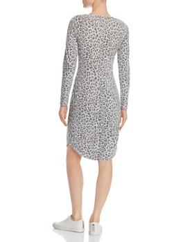 CHASER - Long-Sleeve Leopard-Print Dress
