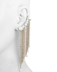 Carolee - Asymmetrical Chain Fringe Ear Crawlers