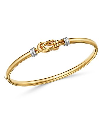 Bloomingdale's - Knot Bangle Bracelet in 14K Yellow & White Gold - 100% Exclusive