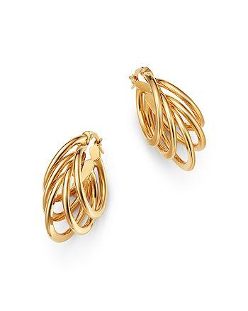 Bloomingdale's - Multi-Wire Hoop Earrings in 14K Yellow Gold - 100% Exclusive