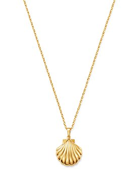 """Moon & Meadow - Shell Pendant Necklace in 14K Yellow Gold, 22"""" - 100% Exclusive"""