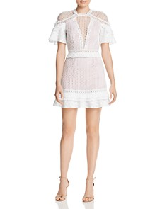 Saylor - Mixed-Media Mini Dress