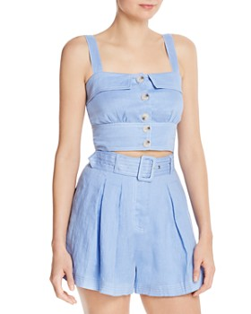 Suboo - Button-Down Crop Top