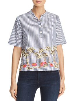 Scotch & Soda - Embroidered Striped Top